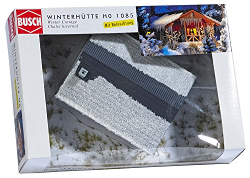 Busch 1085 Wintry Wood Cottage HO Structure Scale Model - Structures Wood Ho Scale