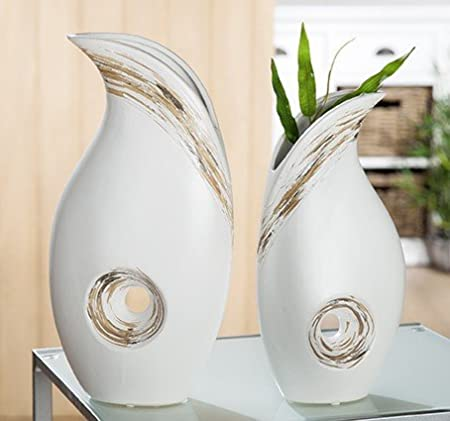 Gilde 1 X Tool Linea Ceramic Vase 35 Cm A Table Decoration Candle
