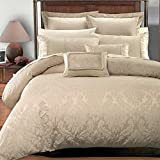 Royal Hotel Collection SARA 7 Pieces Taupe King/ Cal King Duvet Cover Set