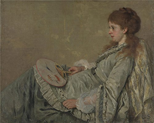 Oil Painting 'Otto Franz Scholderer Portrait Of The Artist's Wife' 8 x 10 inch / 20 x 25 cm , on High Definition HD canvas prints is for Gifts And Bed Room, Game Room And Living Room decor, coupon