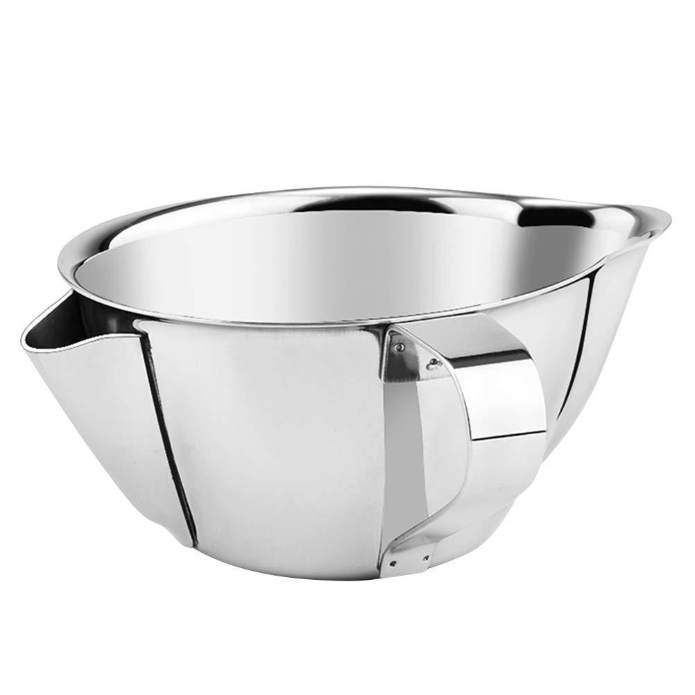 BESTONZON Separador aceite cocina de acero inoxidable filtro de aceite multiusos cuenco (XL)