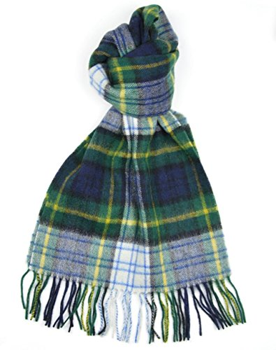 Dress Modern Tartan (Lambswool Scottish Gordon Dress Modern Tartan Clan Scarf)