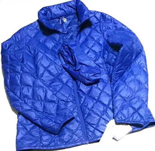 Packable Ultra light down jacket (Medium, Blue)