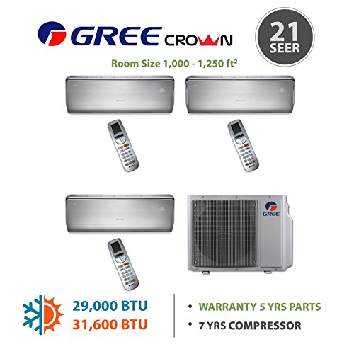 gree-multi30bcrown302-30000-btu-multi21-tri-zone-wall-mounted-mini-split-air-conditioner-with-heat-p