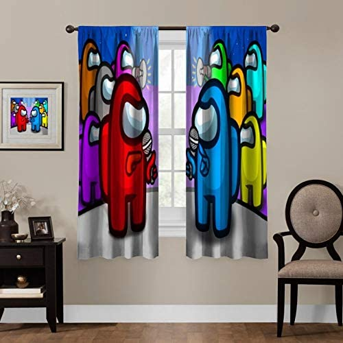LCGGDB Game Blackout Curtains,Fun Game Design Theme,Room Bedroom Blinds - a good cheap window curtain panel