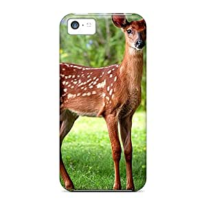 Iphone 5c Cases Slim [ultra Fit] Wild Baby Fawn Protective Cases Covers