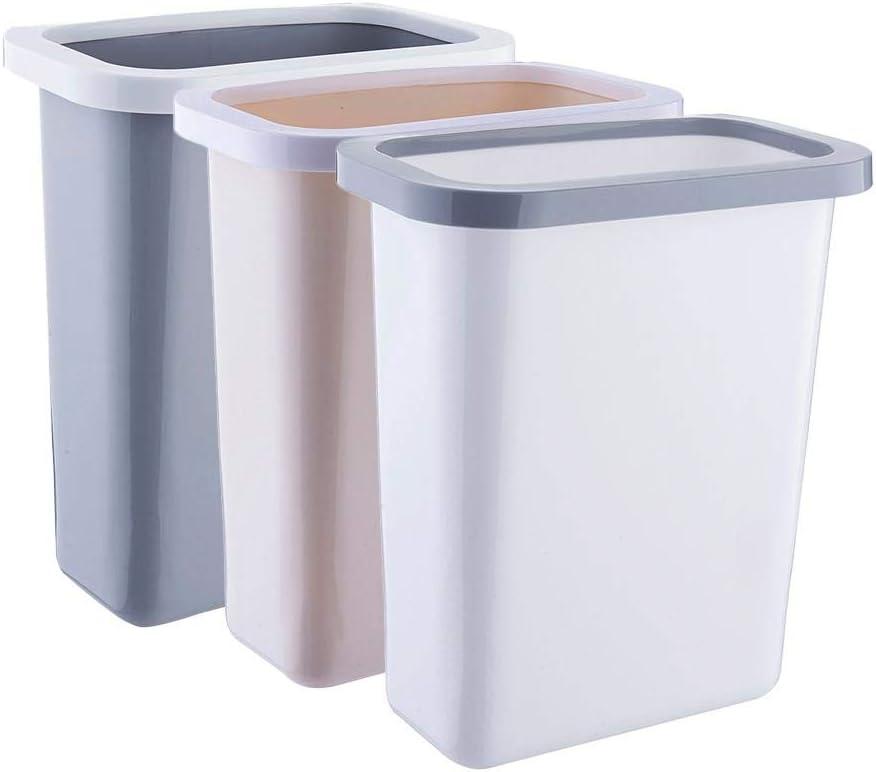 S WIDEN ELECTRIC Plastic Kitchen Hanging Trash Bin 10L//2.6Gal Cupboard None Cover Waste Bin Fixed Garbage Bag Toilet Bathroom Living Room