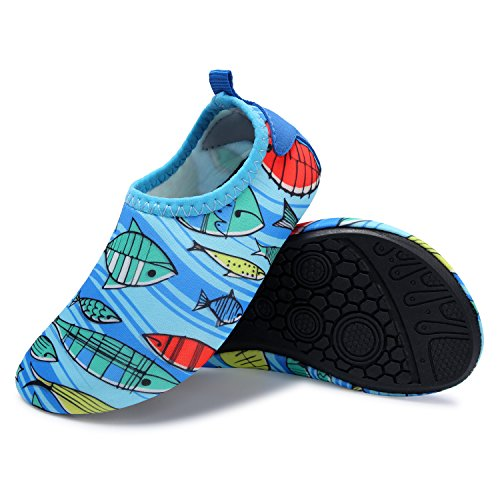 L-RUN Kids Swim Water Shoes Barefoot Aqua Socks Shoes For Beach Pool Surfing Yoga – DiZiSports Store