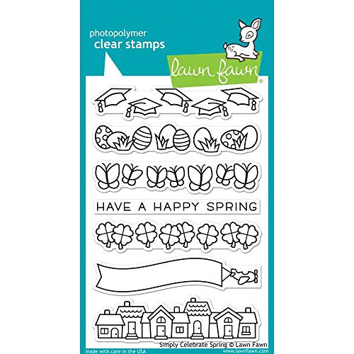 Lawn Fawn - Simply Celebrate Spring Clear Stamp and Die Sets with Wavy Saying Clear Stamps - 3 Items by Lawn Fawn (Image #1)