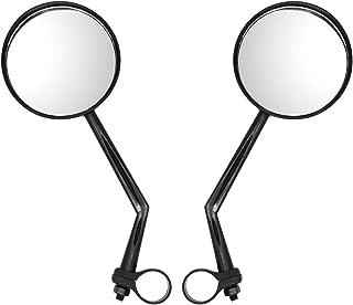 JCstarrie 1 Paio specchietti retrovisori per Bici - Lenti convesse Supporto Rotazione a 360 ° su Entrambi i Lati Manubri per Bicicletta da Bambino/da Montagna/da Strada e fissi (Nero)