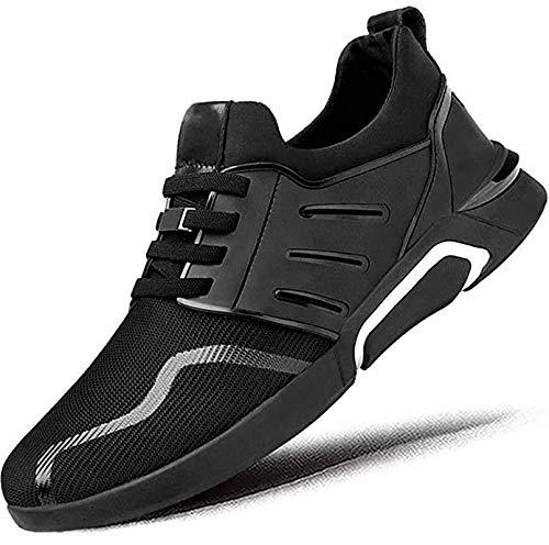 APASH Men's Mesh Sports Latest Stylish Running Trending Balck Shoes for Men