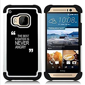 For HTC ONE M9 - black motivational fighter boxing Zen Dual Layer caso de Shell HUELGA Impacto pata de cabra con im????genes gr????ficas Steam - Funny Shop -