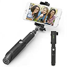 [2015 NEW] iKross Selfie Stick Handheld Extendable Monopod with Built-in Wireless Bluetooth Remote Shutter for iPhone, Samsung Smartphone, GoPro HERO Series Cam - Black