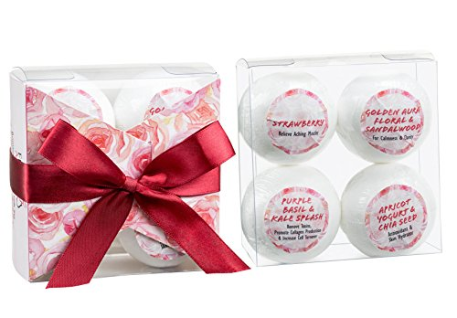 Bath Bombs Stocking Stuffer Holiday Bath Fizzies Set. Love and Romance Birthday Holiday Idea for Her/Him, Wife, Girlfriend, in Relaxing and Calming Aromatherapy Fragrance. from Freida Joe