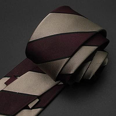 Y-WEIFENG Corbatas de Hombre Corbata de Seda Versión Estrecha Seda ...