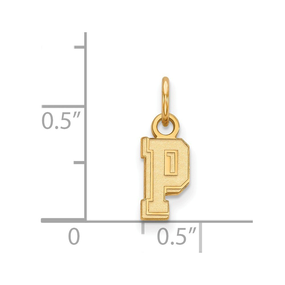 Jewel Tie 925 Sterling Silver with Gold-Toned University of Pittsburgh Extra Small Pendant