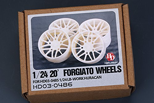 Hobby Design 1/24 Forgiato Lamborghini Huracan 20 inches wheel HD03-0486 -  Tamiya