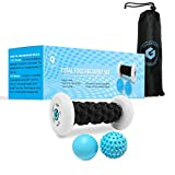 Plantar Fasciitis Foot Recovery Set - Includes Foot Massager Roller and 2 Cold Therapy Massage Balls - Pain Relief via Reflexology, Acupressure, Trigger Point Therapy, Mobility WOD, Myofascial Release