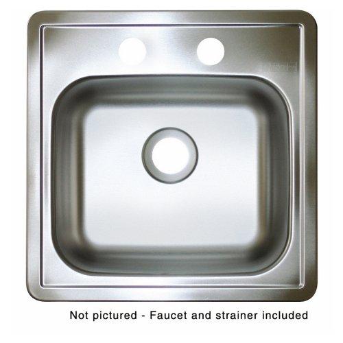Franke USA Square Stainless Steel Topmount Bar Sink LFBS602NKIT