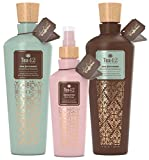 Premium Caffeine Shampoo And Conditioner And Root Spray Leave In Conditioner Gift Set Infused with Organic Green Tea Extract Sulfate Free Ingredients