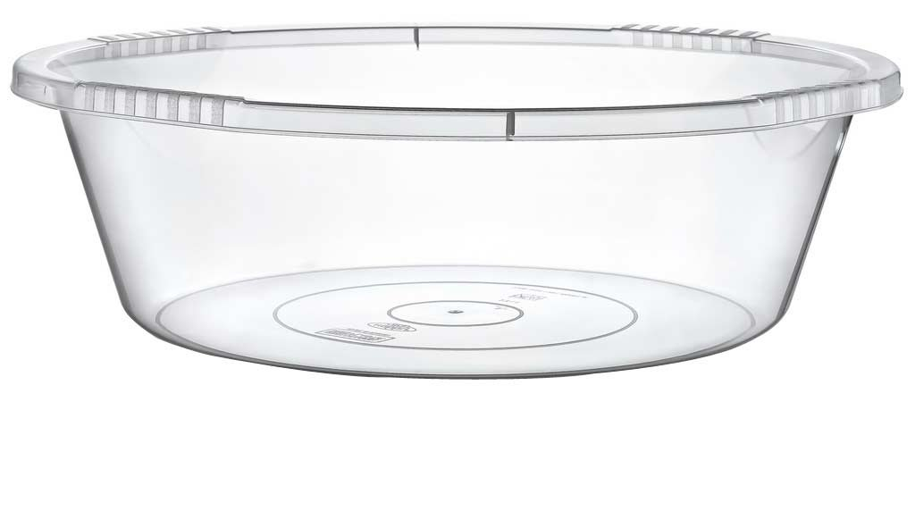 Maya Professional Tools 031154 Round Washing Up Bowl, 23 Litre, Transparent 23Litre es biss MBYMX