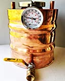 Copper Moonshine Thumper Doubler Upgrade 1.65 Gallon for 5 Gallon Alembic Onion Top Whiskey Stills
