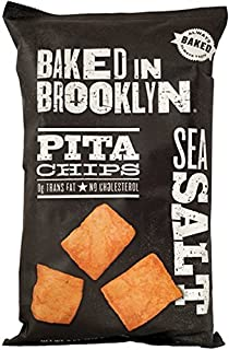 product image for Baked In Brooklyn Pita Chips, Sea Salt 8-Ounce Bags, (Pack of 12)