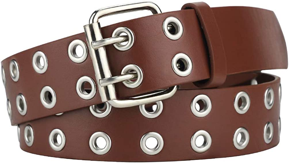 Double Grommet PU Leather...