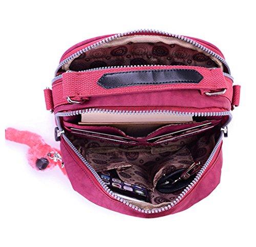 résistant à en portable pochette couleur Chou Couches main pour à Mini Plum sac Petit sac nylon Double bonbon l'eau 2 Téléphone YwTv84qx