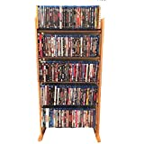 Multimedia Storage Tower Holder Universal DVD CD Blu-Ray 5-Tier Media Unit Modern Multipurpose Organizer Slim Stand & eBook