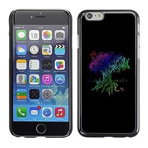 KIKI Tech para Apple iPhone 6 Plus 13,97 cm - Rainbow árboi