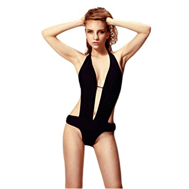 Bd Women Teen Girl Sexy Micro Monokini Micro Bikini Beachwear Bathing Suit S Black