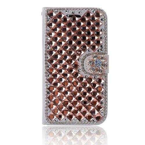 Letv Le Max 2 X820 Funda, Lifetrut [Caja de la carpeta del tirón] [Diseño cristalino] De lujo De la PU de Cuero Magnético de Los Fondos Del Monedero Del Brillo para el Letv LeEco Le Max 2 (5.7inch) [ E235-Llama Diamante