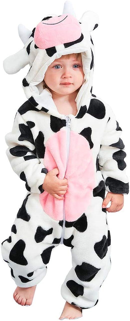 MICHLEY Beb/é Ropa Ni/ños Ni/ñas Pijama Disfraces Primavera Franela Traje Animales Pelele