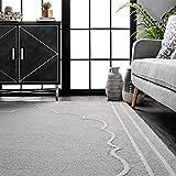 nuLOOM Elegant Borders Wool Area Rug, 4' x 6', Grey