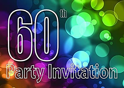 10 X 60 Tema Invitaciones Para Fiesta De Cumpleaños
