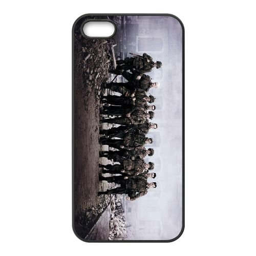 Band Of Brothers coque iPhone 4 4S cellulaire cas coque de téléphone cas téléphone cellulaire noir couvercle EEEXLKNBC23312