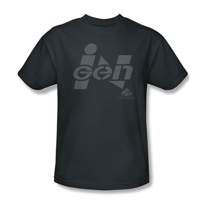 Jurassic Park - Mens Ingen Logo T-Shirt In Charcoal