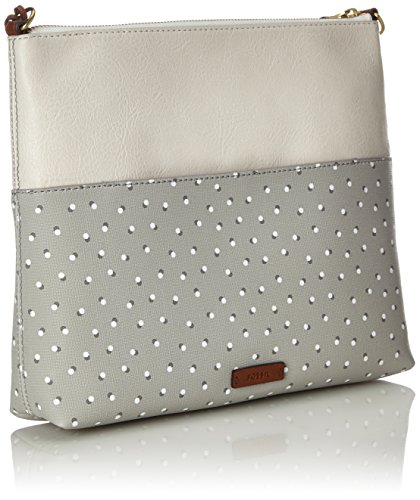 28 Fossil Fiona Fiona cm White Grey bag Shoulder Shoulder Fossil Grey 1qSTrq