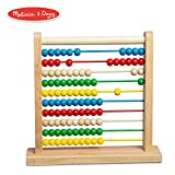 """Melissa & Doug Abacus Classic Wooden Toy, Developmental Toy, Brightly-Colored Wooden Beads, 8 Extension Activities, 11.9"""" H x 12"""" W x 3"""" L"""