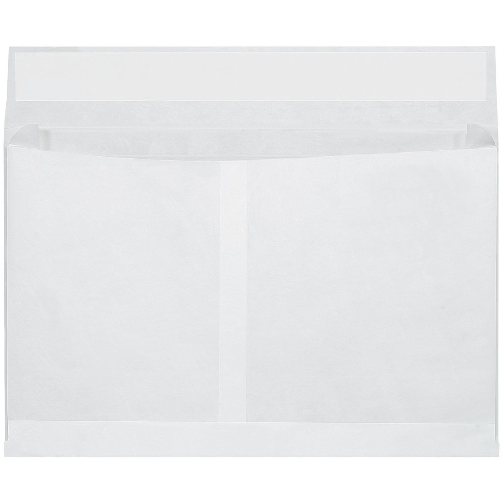 Quality Park TYE10152WS Tyvek Olefin Expandable Envelope, 15'' Length x 10'' Width x 2'' Height, White (Case of 100) by Tyvek