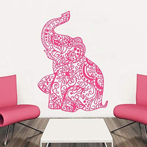 Pbldb Etiqueta De La Pared Elefante Yoga Indio Extraíble ...