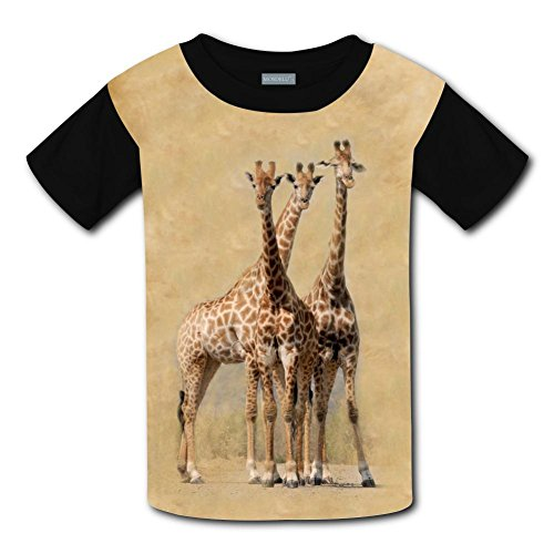 Mmm fight South Africa Hluhluwe Giraffes Pattern Light Weight T-Shirt 2017 The Latest Version for Boysfree Postage