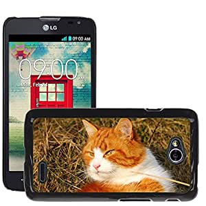 Super Stella Slim PC Hard Case Cover Skin Armor Shell Protection // M00144407 Cat Kitty Sweet // LG Optimus L70 MS323