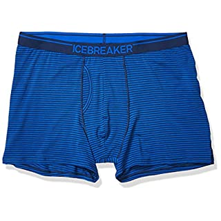 Icebreaker Merino Men's Anatomica Boxers with Fly, Estate Blue, Large