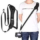 pangshi Camera Shoulder Belt Neck Strap with Snap Hook and 1/4