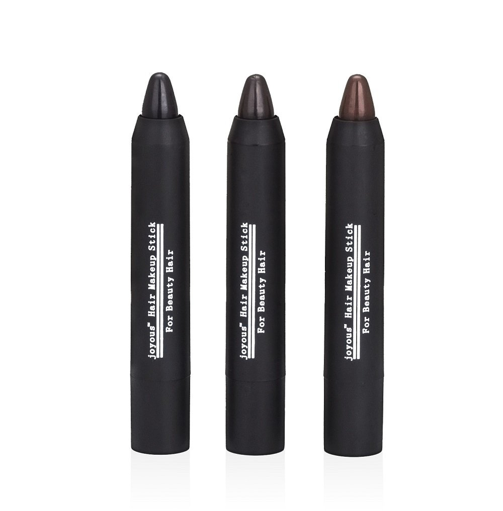 Professional Hair Chalk Pens Temporary Hair Dye Non-toxic Hair Color Crayon Cover White Hair Color Patch (3packs-black-dark Brown-coffee) Joyous 2001