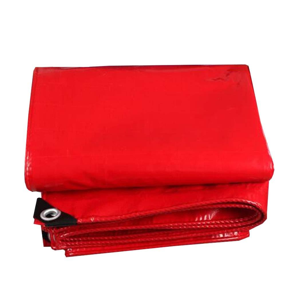 YX-Planen Reversible Wasserdichte Plane rot Premium Quality Cover für allgemeine Abdeckung - 100% wasserdicht und UV-geschützt - Dicke 0,45 mm, 470 g m²