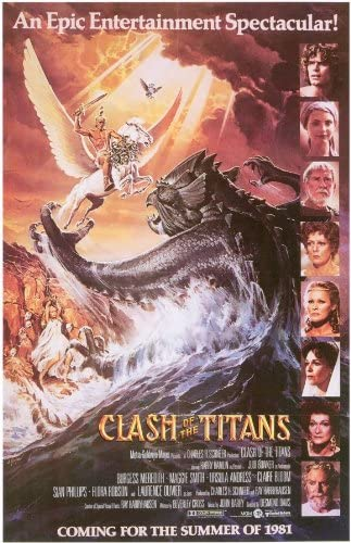 Clash of the Titans Movie POSTER 11 x 17 Maggie Smith A Laurence Olivier NEW