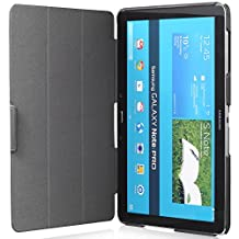 GreatShield® Samsung Galaxy NotePRO / TabPRO 12.2 Inches Tablet (VANTAGE Series) Smart Cover PC + PU Leather Case with Sleep / Wake Function and KickStand (Black)